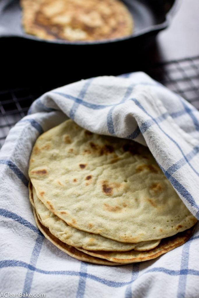 grain free tortillas by a clean bake
