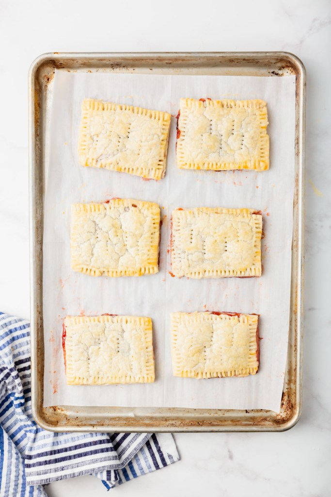6 gluten-free pop tarts on baking tray