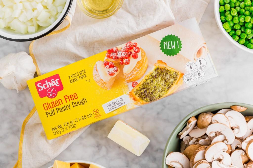 Schar gluten-free puff pastry packaging