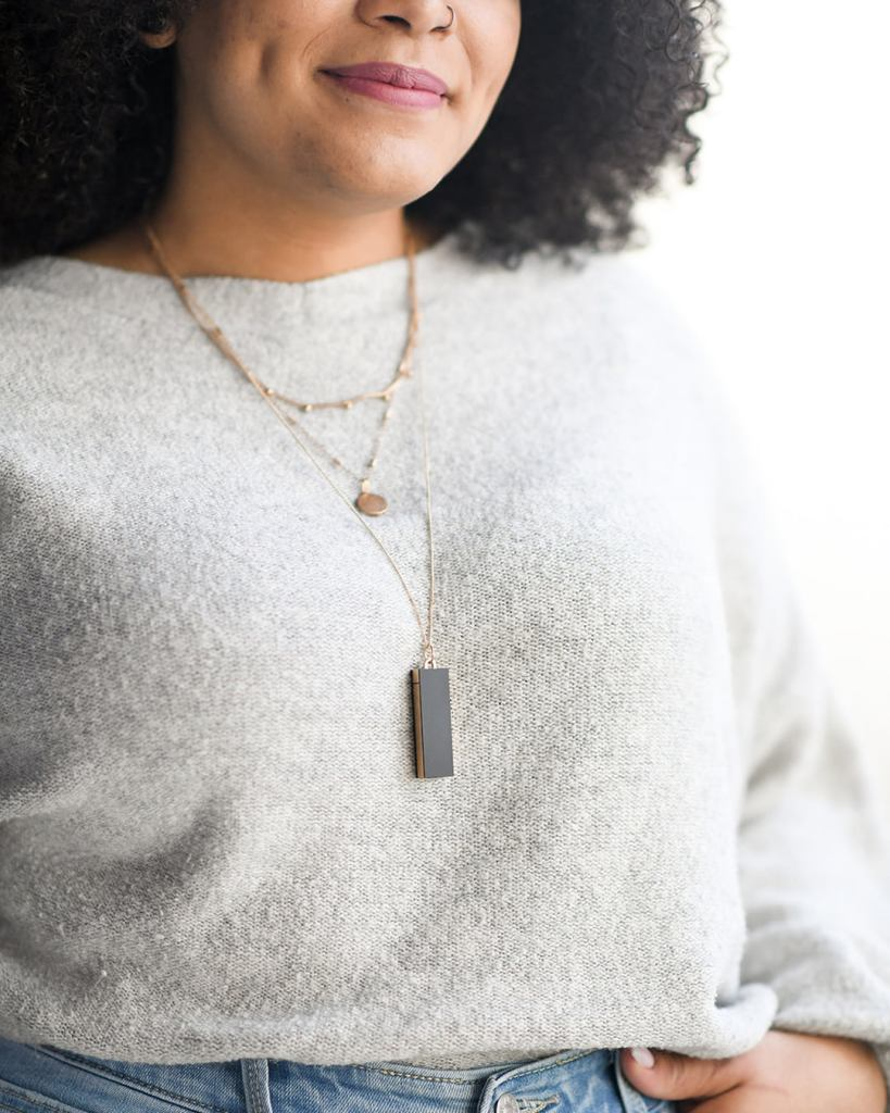 allergy amulet necklace wearable gluten detecting device
