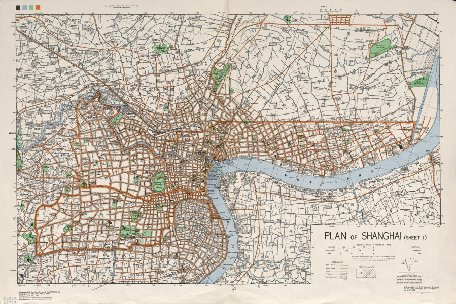 Map of Shanghai in the 1930s in China image   Free stock photo     Free