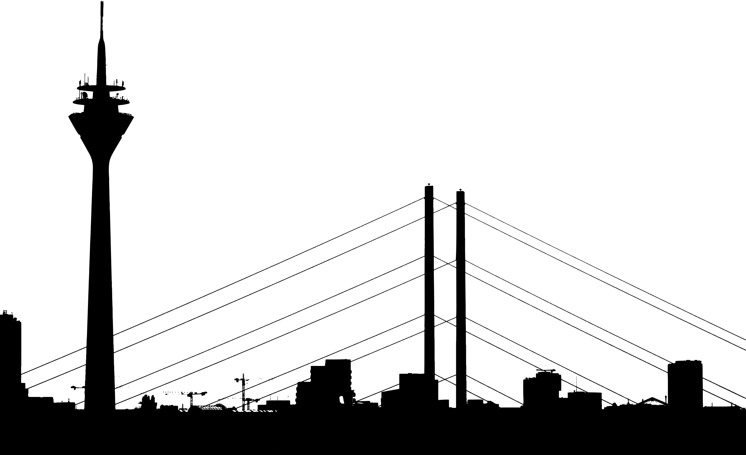 City Silhouette Vector Clipart Image