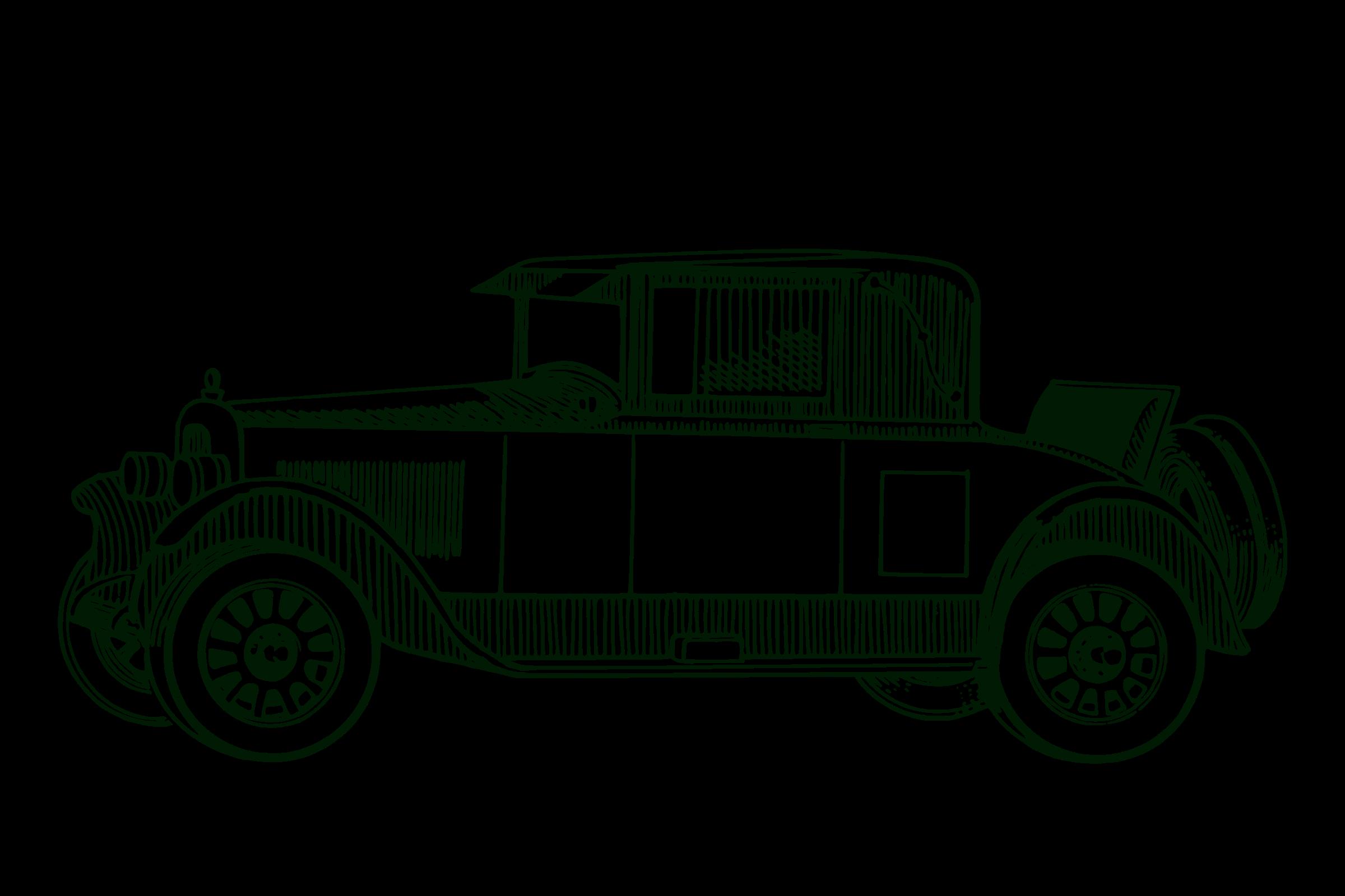 Classic Car Vector Clipart Image