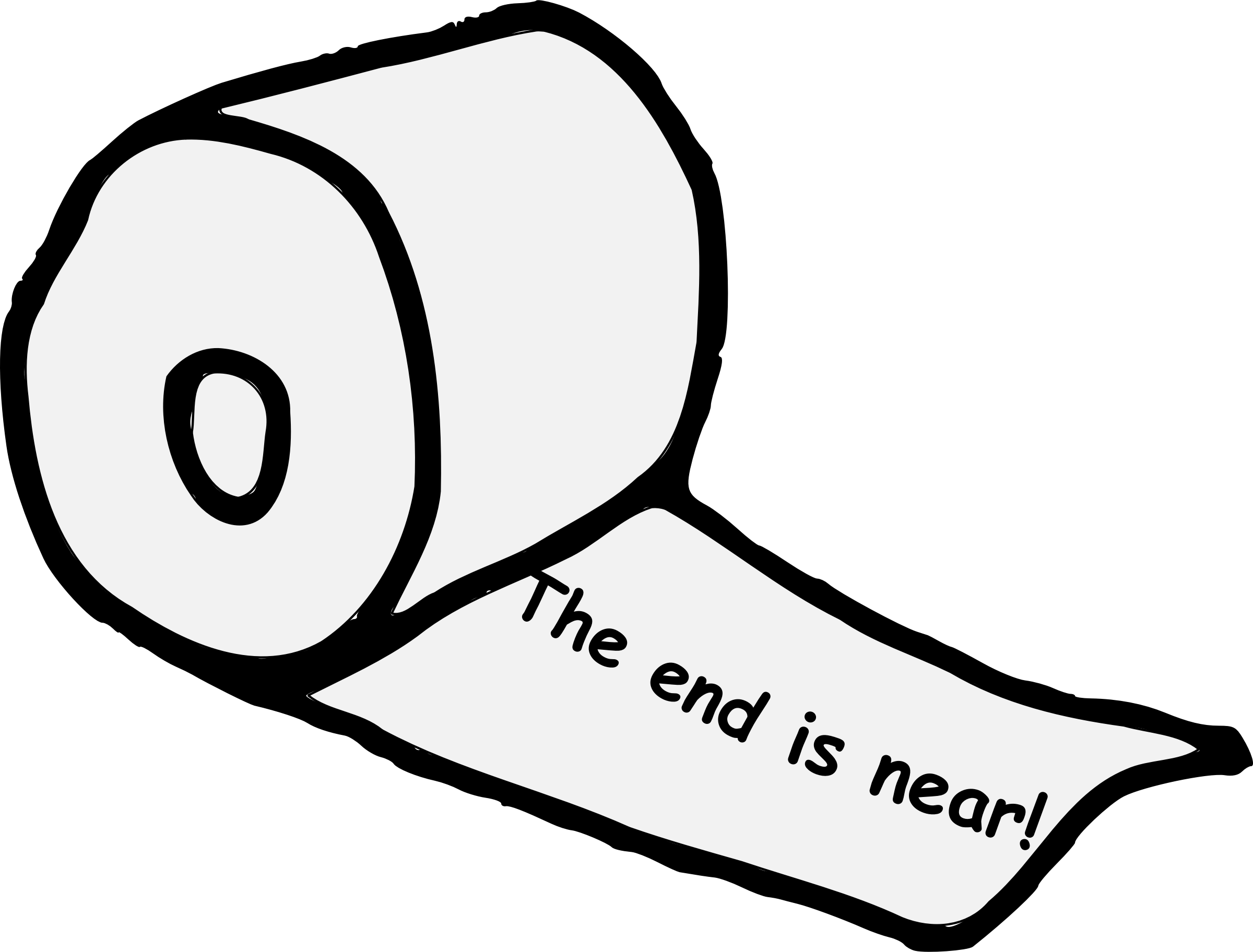 End Is Near Toilet Paper Vector Clipart Image