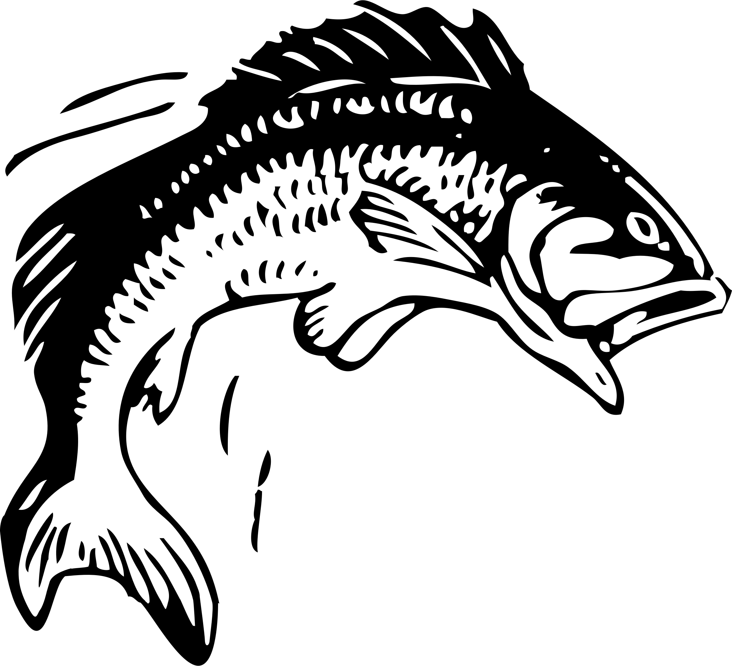 Jumping Fish Vector Clipart Image