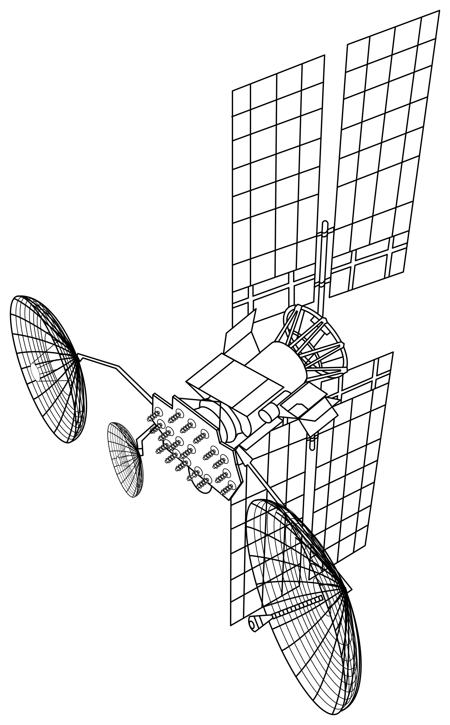 Satellite Drawing Vector Clipart Image