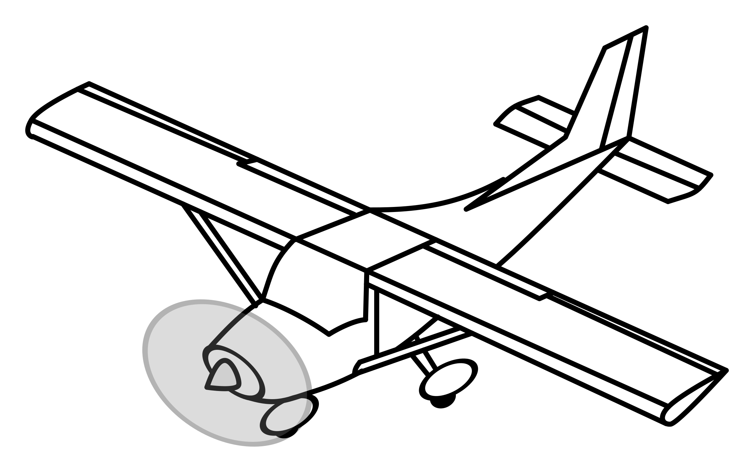 Single Engine Airplane Vector Clipart Image
