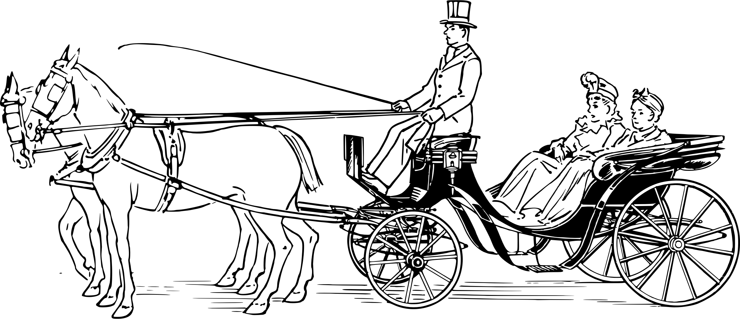 Victoria Carriage Vector Clipart Image