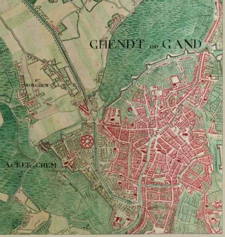 Map of Ghent in 1775 in Belgium image   Free stock photo   Public     Free