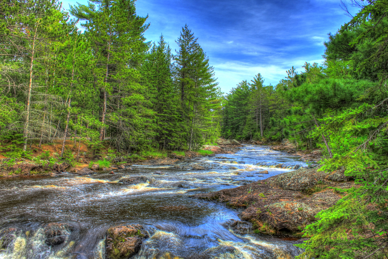 Beautiful River Landscape At Amnicon Falls State Park