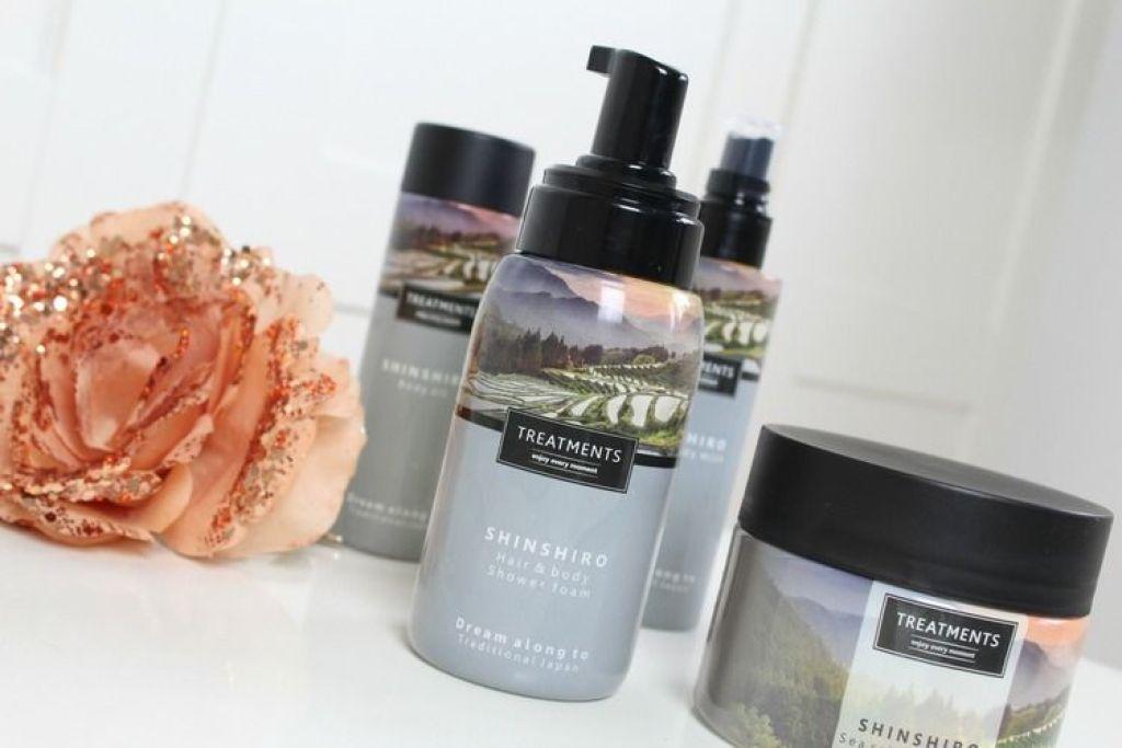 Treatments shinshiro hair and body shower foam