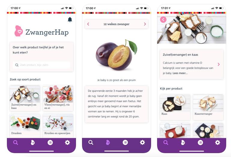 eten tijdens zwangerschap app