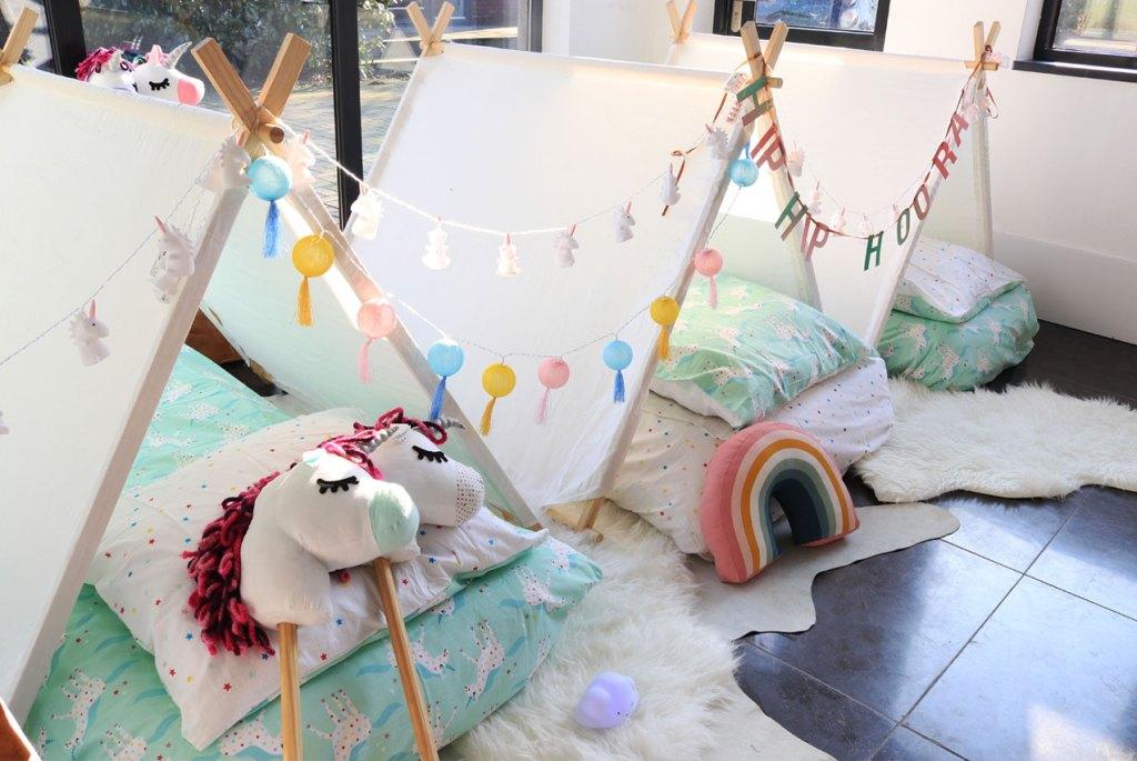 unicorn slaapfeestje