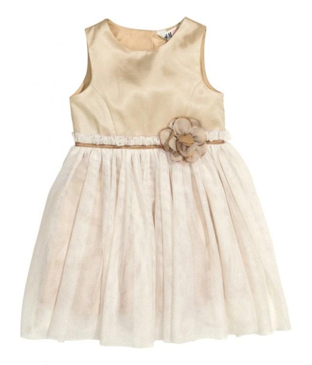HM kinderfeestkleding-feestelijke kerstjurkjes voor meisjes-GoodGirlsCompany kerstjurkjes-gouden jurkje