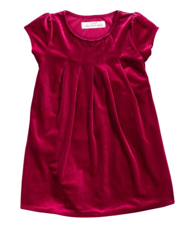H&M kinderfeestkleding-feestelijke kerstjurkjes voor meisjes-GoodGirlsCompany kerstjurkjes-rood fluwelen jurkje