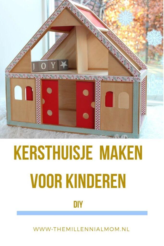 Kersthuisje maken van poppenhuis