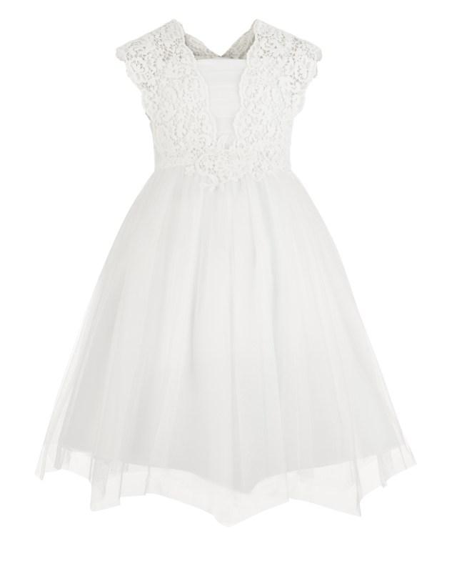 Estella flower crochet dress-Monsoon-communiejurk-feestkleding voor meisjes-bruidsmeisjesjurken-exclusieve jurken voor meisjes