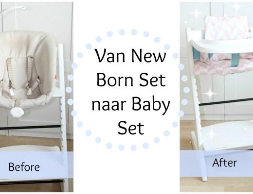 Stokke Tripp Trapp New Born Set-Van Stokke Tripp Trap met New Born Set naar Stokke Tripp Trapp met Baby Set