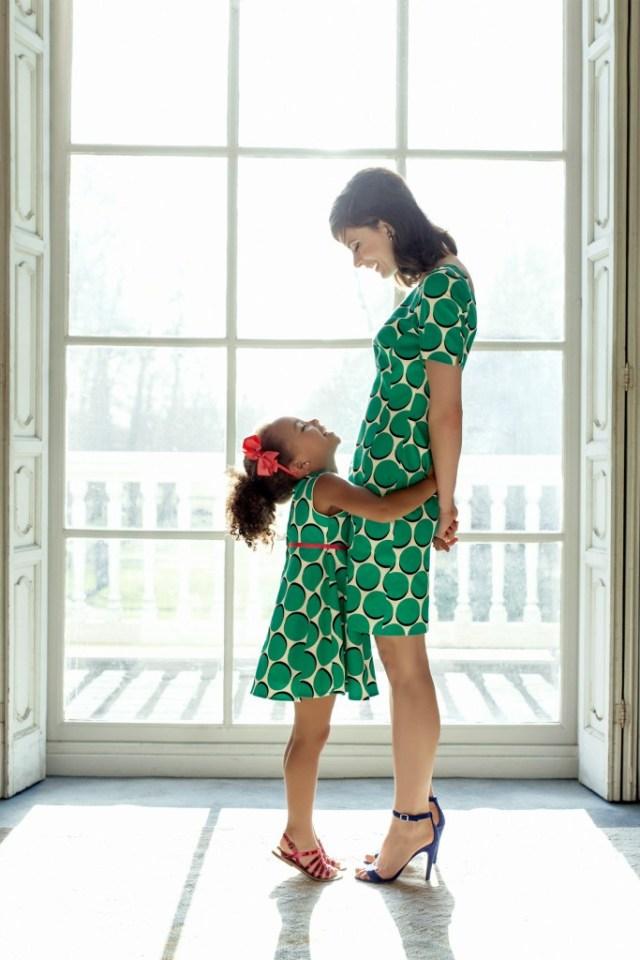 Steps Isabelle Green dress-GoodGirlsCompany-zelfde jurkjes voor moeders en dochters