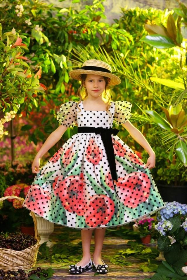 jurk met pofmouwen-kinerjurkje-GoodGirlsCompany