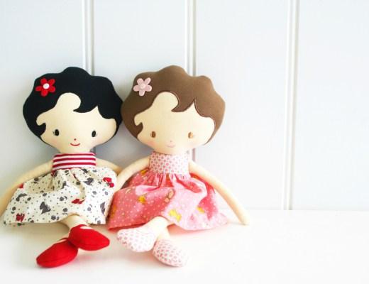 poppen van Alimrose-lappenpoppen voor kinderen-poppen van stof