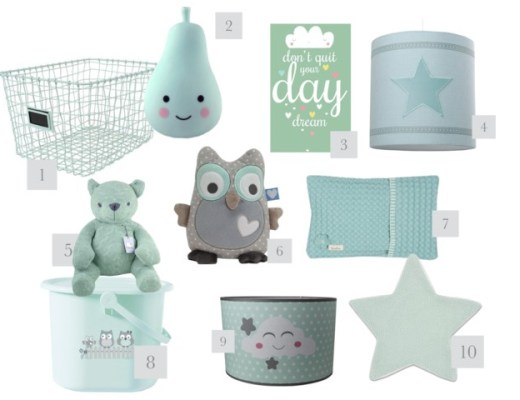 mintgroene babyspullen-GoodGirlsCompany-mintgroene spulletjes voor babykamer