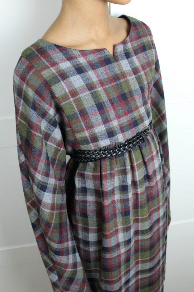 Zara-geruite-overgooier-halslijn-maat-152-detail-GoodGirlsCompany