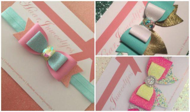baby haarbandjes-originele haarbandjes voor een baby-pink lemonade