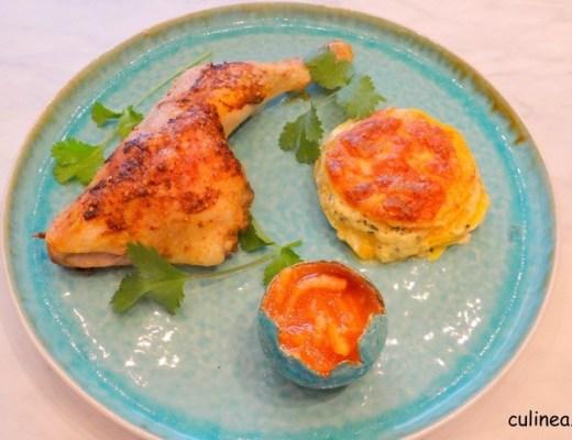 Harissa kippenbout met gratin van pompoen5