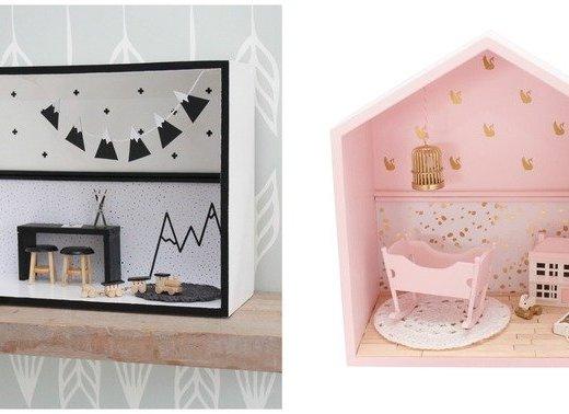 Muurkastjes- een modern miniatuur poppenhuis- GoodGirlsCompany