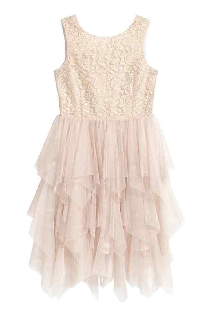 Tulen jurk met pailletten-HM-GoodGirlsCompany