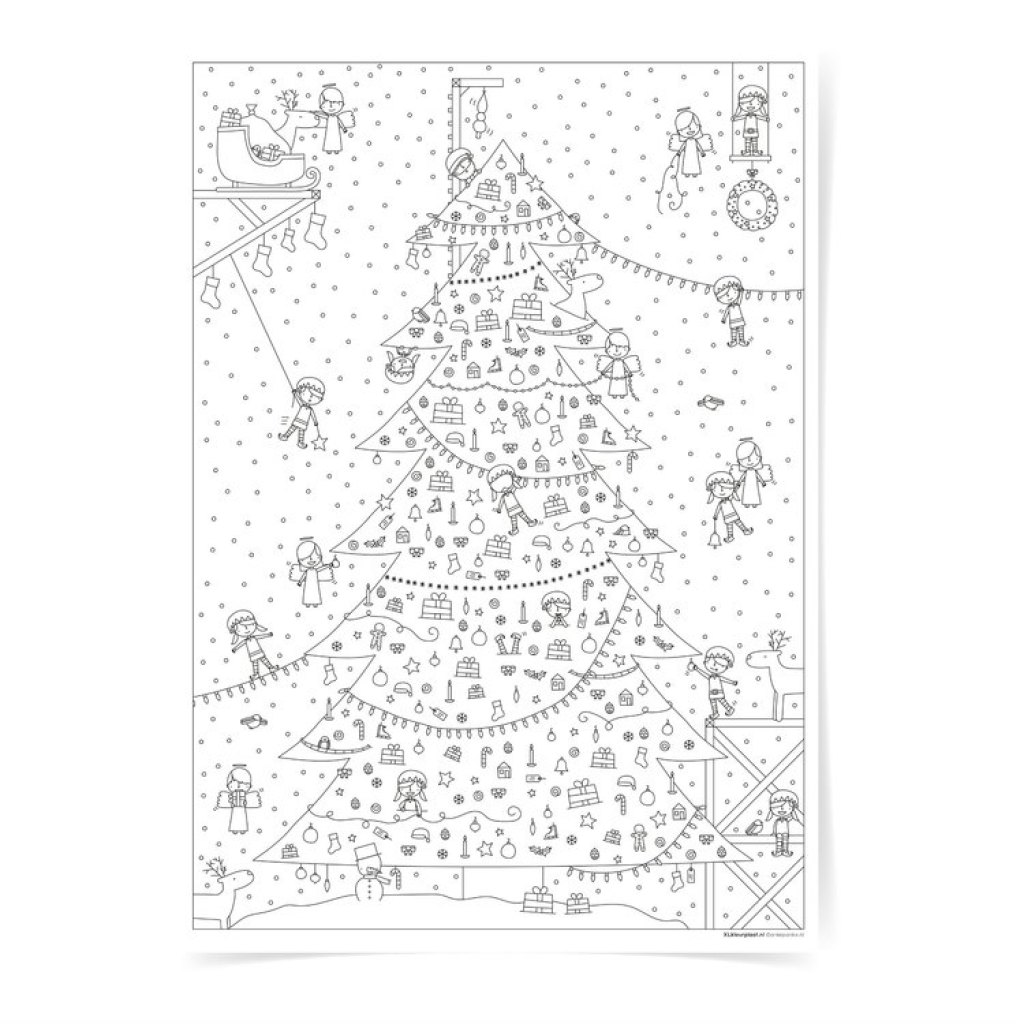 extra grote Kleurplaat-kleurplaat voor kerst-GoodGirlsCompany