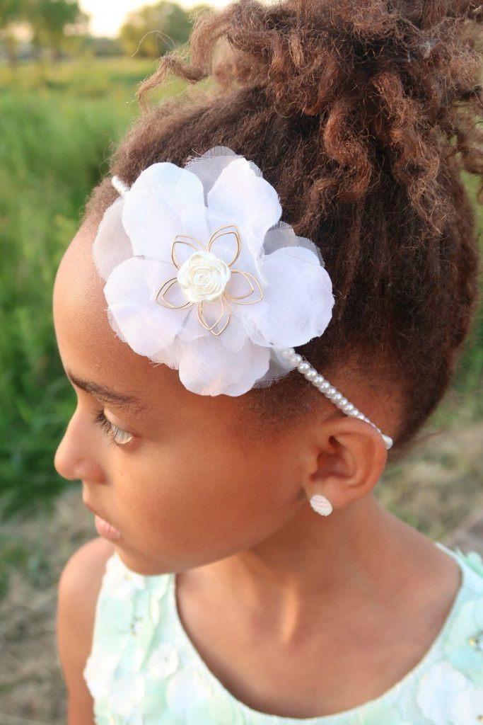 PRETTY ORGANZA WIRE FLOWER ALICE HAIR BAND