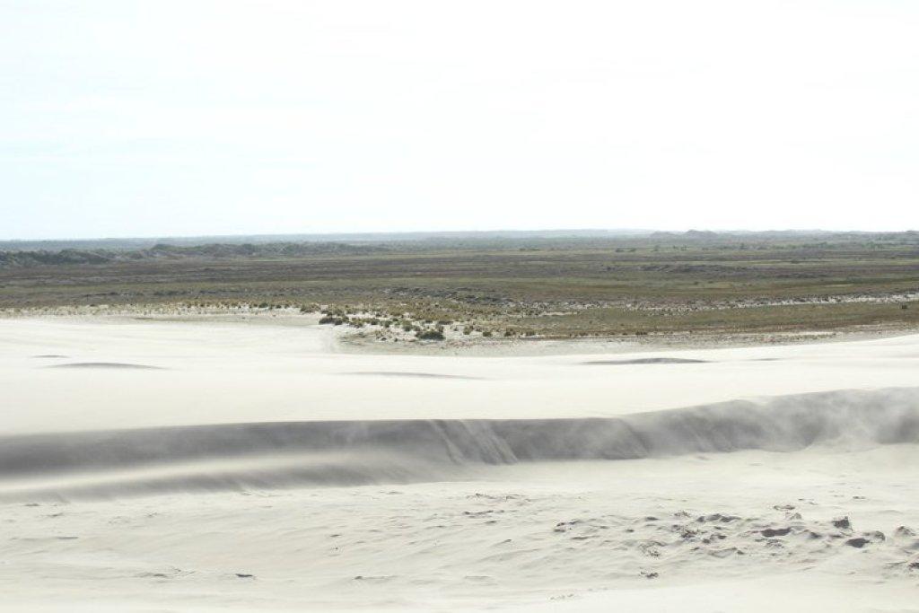 wandelende zandduin