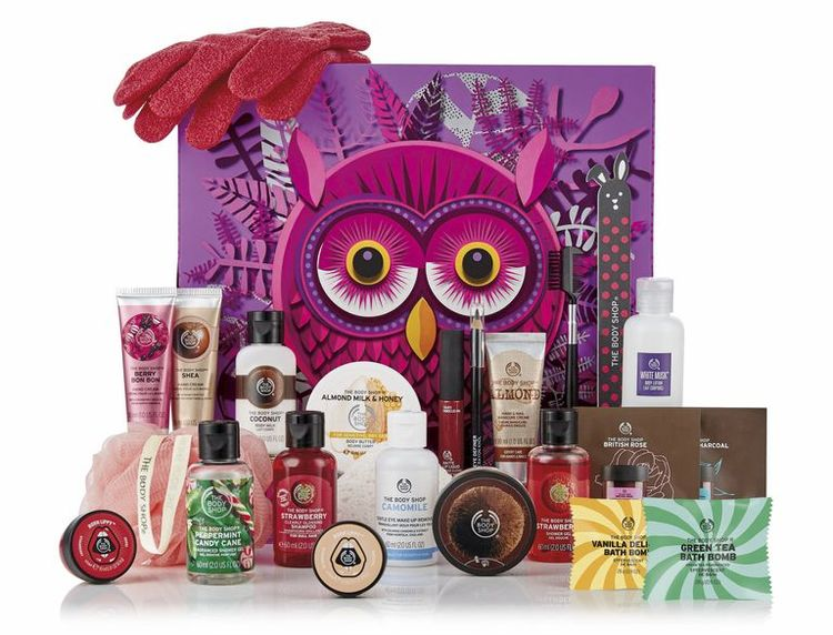 beauty advent kalendar the body shop 2018 olivia