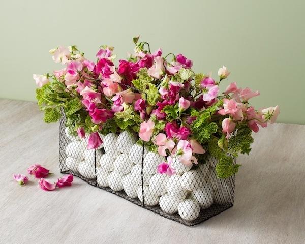 pronkerwt bloemstuk voor Pasen