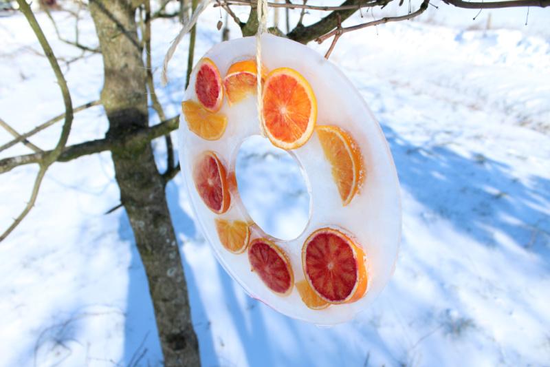 kerstkrans met fruit