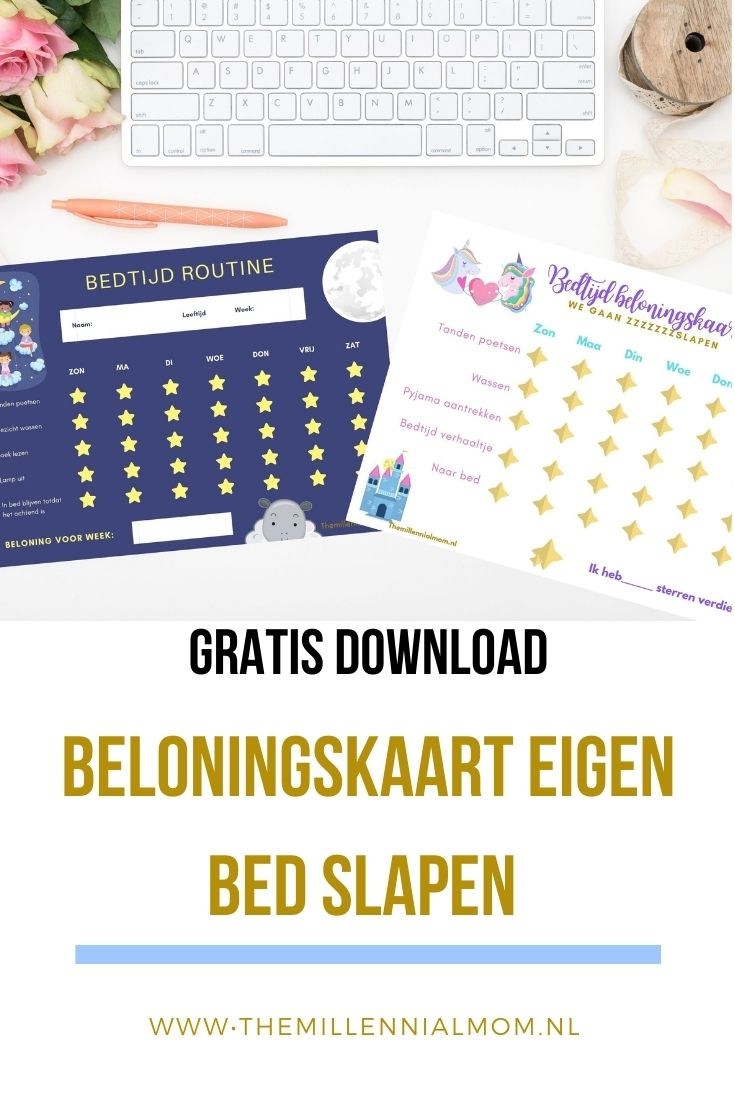 Gratis Download beloningskaart eigen bed slapen