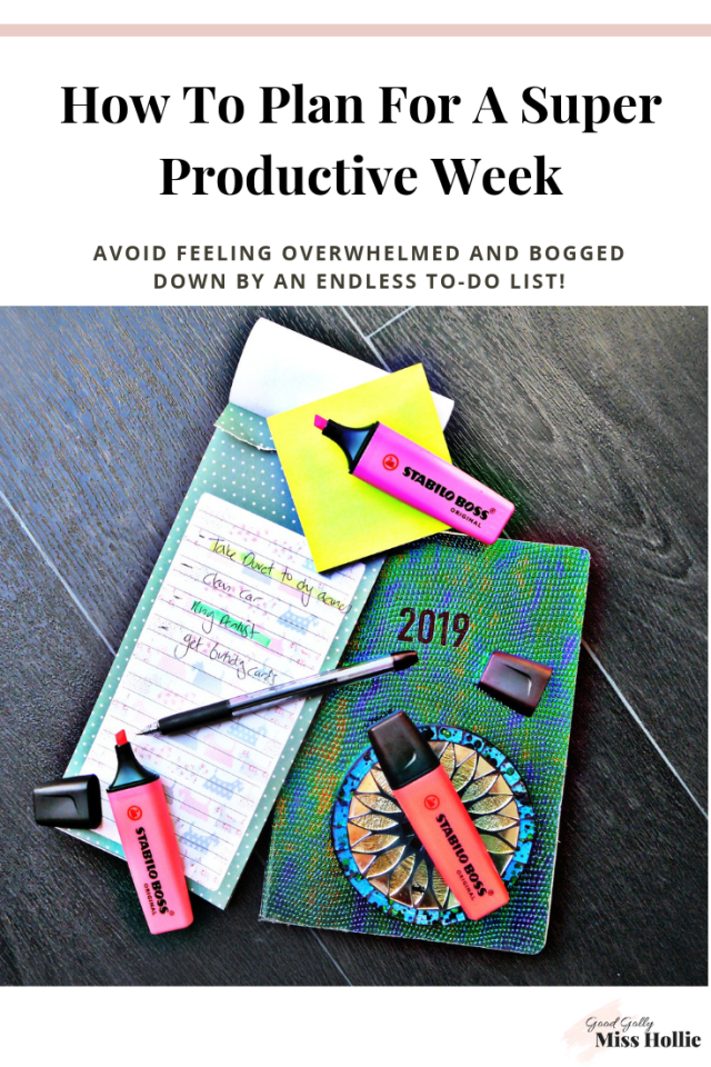 How To Plan For A Super Productive Week