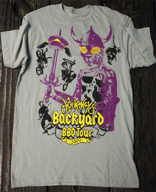 tour-cat-shirt-front - JOURNEYS BACKYARD BBQ TOUR! Goodie Two Sleeves