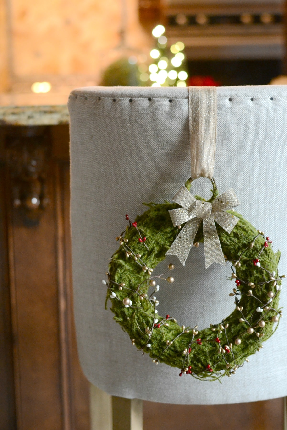 DIY Christmas Wreaths For Dining Chairs Good And Simple