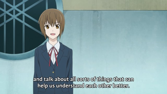 """and talk about all sorts of things that can help us understand each other better."""