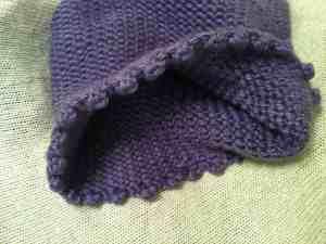 Purple Picot Cowl with Scalloped Edge