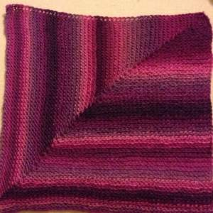picot lovey mitered square