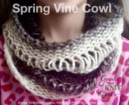 drop stitch cowl spring vine cowl