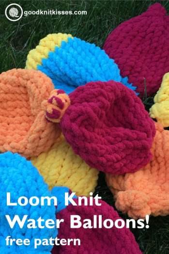 Loom Knit Water Balloons PIN Image