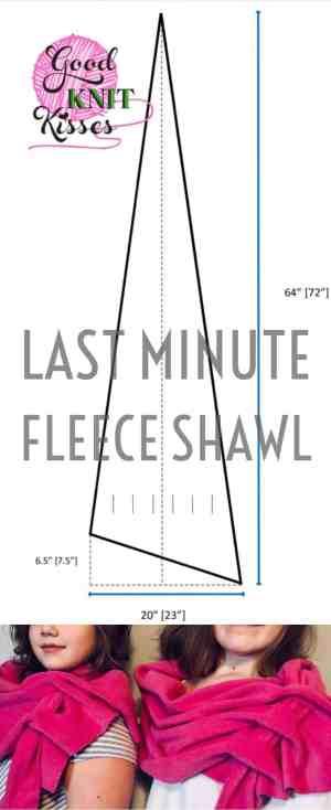 Last Minute Fleece Shawl http://www.goodknitkisses.com/last-minute-fleece-shawl/ Need a fast gift? Make this trendy & stylish fleece shawl super quick with GoodKnit Kisses' easy tutorial. #goodknitkisses #lastminutefleeceshawl #fleece #lastminutegift #fleeceshawl