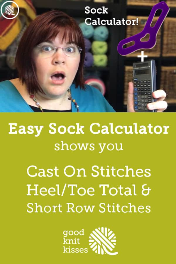 Interactive FREE Sock Calculator http://www.goodknitkisses.com/sock-calculator/ #goodknitkisses #knitsocks #knitting #loomknitting #knit