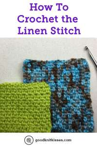 How to Crochet Linen Stitch Pin Image