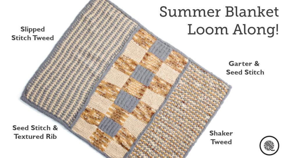 Kisses Good Loom Knit Blanket